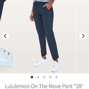 NWOT Lululemon On The Move Pant - Sz 10